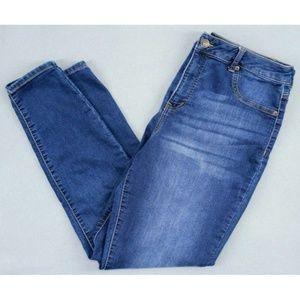 Maurices Womens Jeans Skinny Leg Blue Denim